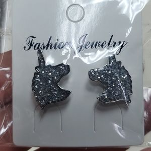 UNICORN earrings NWOT